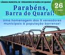 Parabéns, Barra do Quaraí pelos seus 26 anos de história!